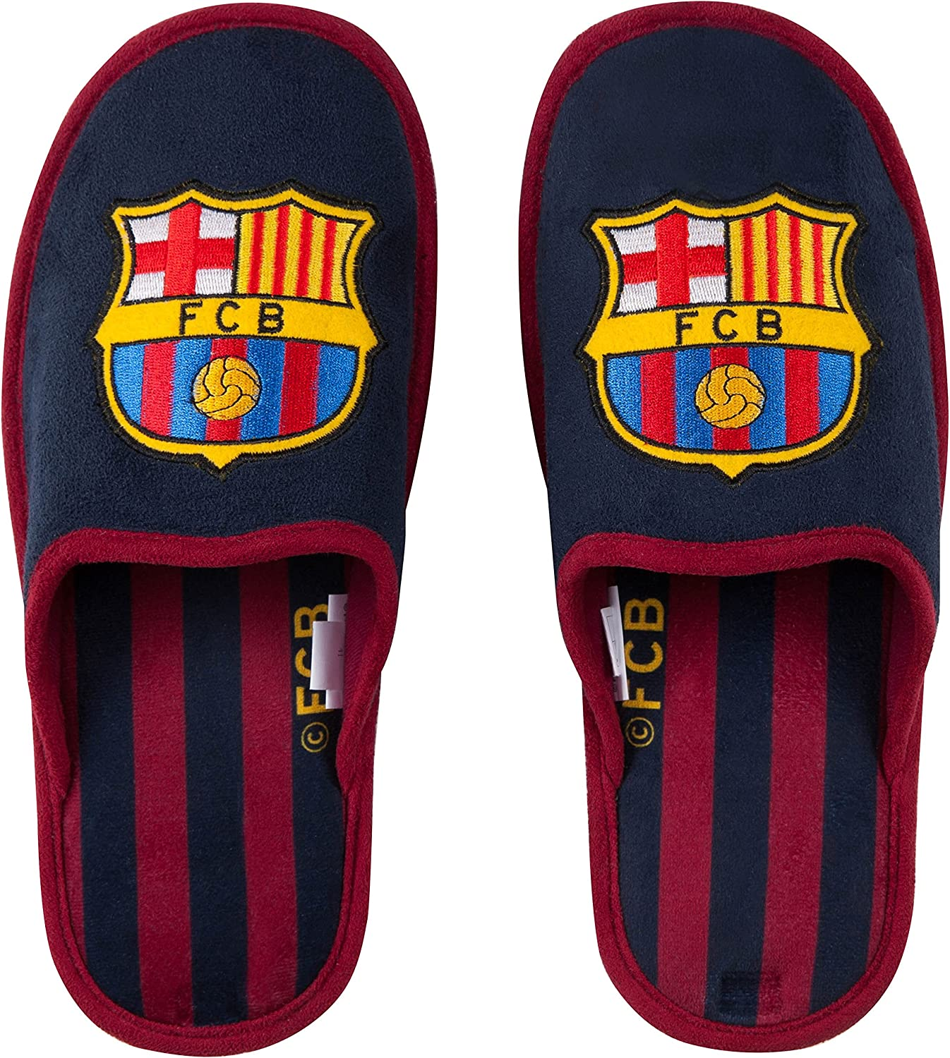 Fc Barcelone Chaussons Barca Collection Officielle Taille Adulte Homme