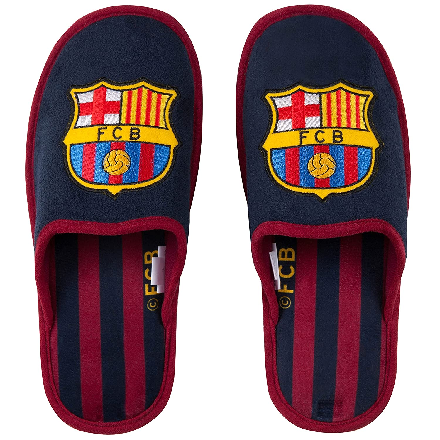Collection Officielle Taille Adulte Homme Fc Barcelone Chaussons Barca