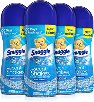 4-Pack Snuggle Shakes in-Wash 9oz Scent Booster Beads (Blue Sparkle)