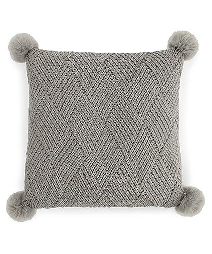 Amazon Martha Stewart Basketweave Pom Pom Decorative Pillow Delectable Martha Stewart Decorative Pillows