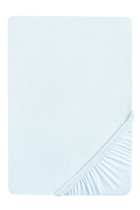 10 opinioni per Biberna, Lenzuolo con angoli in Jersey elasticizzato, Blu (ciel), 180 x 200 cm-