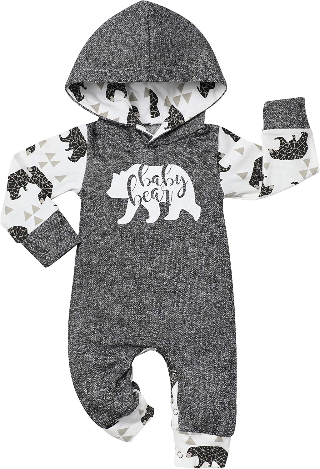 Newborn Baby Boy Clothes New to The Crew Letter Print Romper+Long Pants+Hat 3PCS Outfits Set