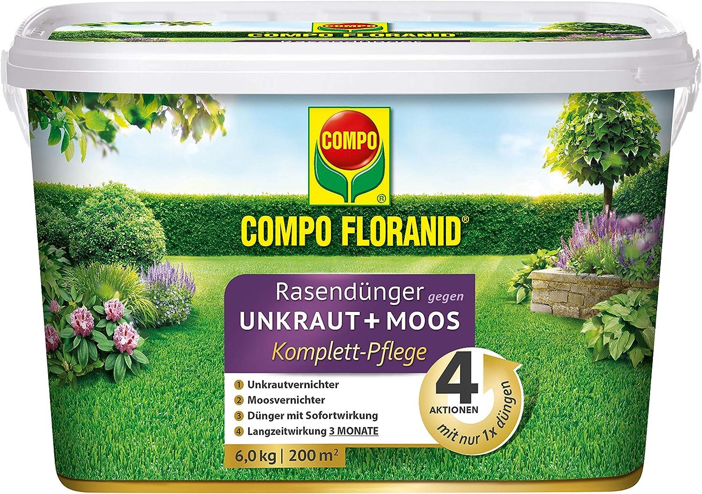 Compo Florand® 26172 - Abono para césped (4 en 1, 6 kg): Amazon.es ...