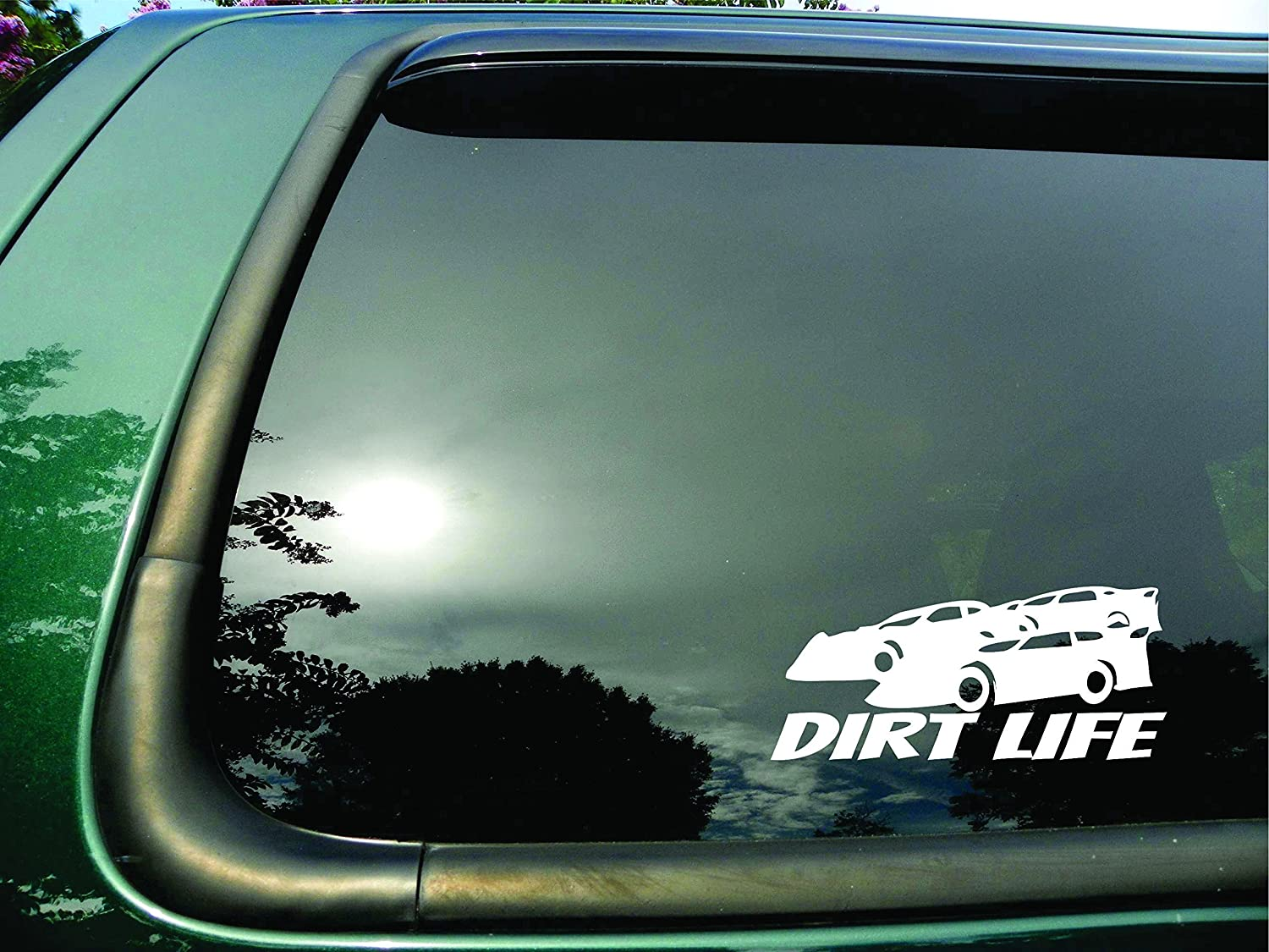Amazon com dirt life racing cars die cut vinyl window decal sticker for car truck laptop everything else