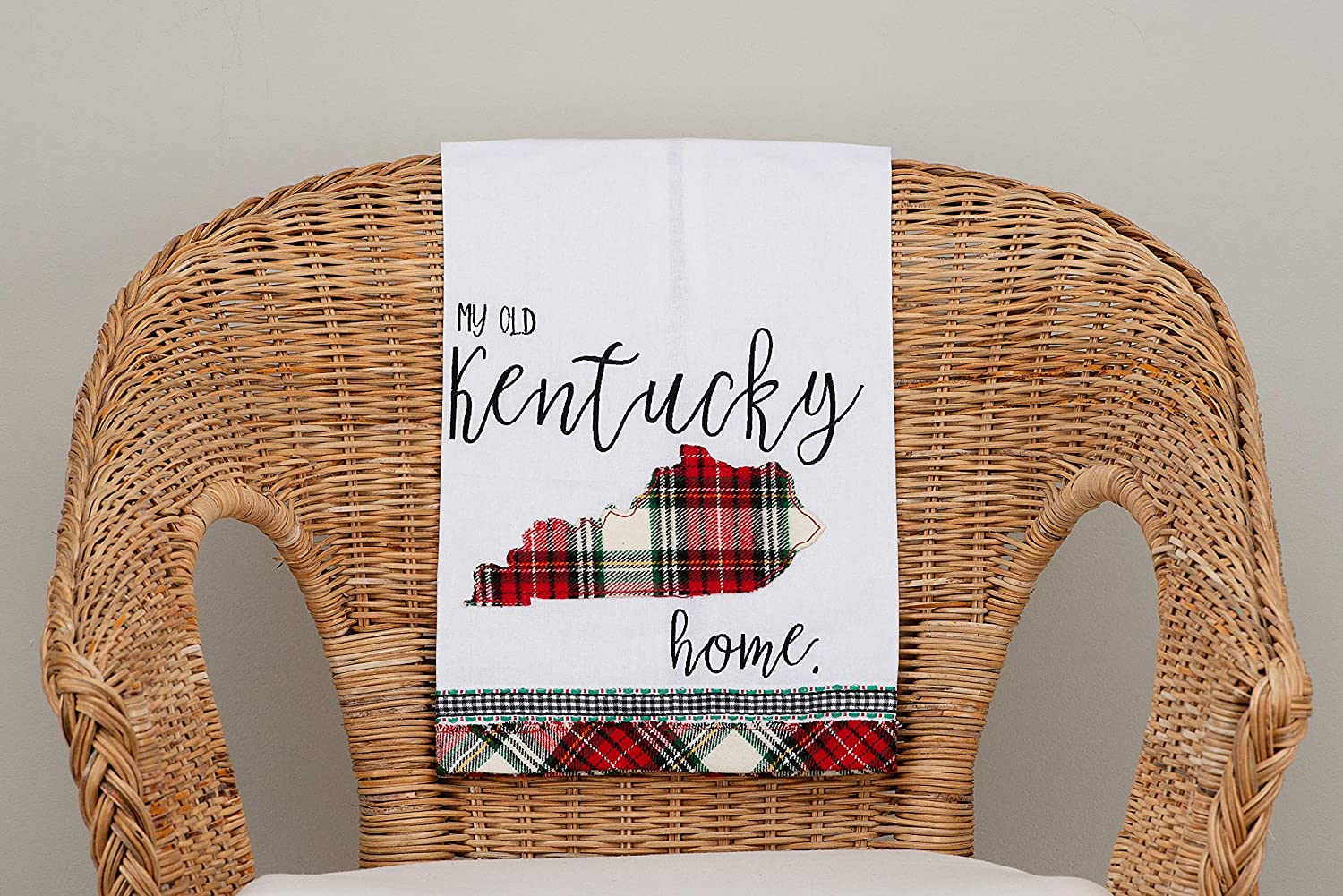 Multi Glory Haus Old Kentucky Home Colorful and Collegiate Tea Towel