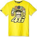 ヤマハ(YAMAHA) ロッシ VR46 Tシャツ ロッシキャラクター&ザ・ドクターロゴ イエロー Mサイズ Q5D-YSK-152-00M