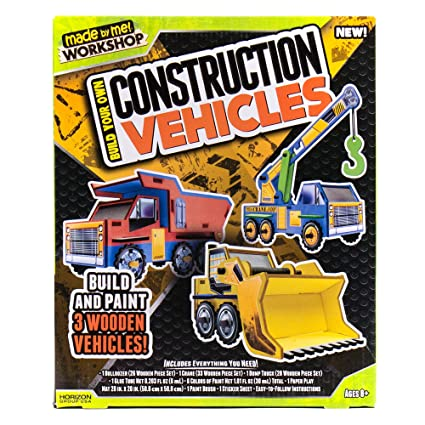 Amazon Com Made By Me Build Your Own Construction Vehicles By