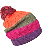 Men's Soft Chunky Knitted Stripy Slouch Winter Beanie Bobble Hat