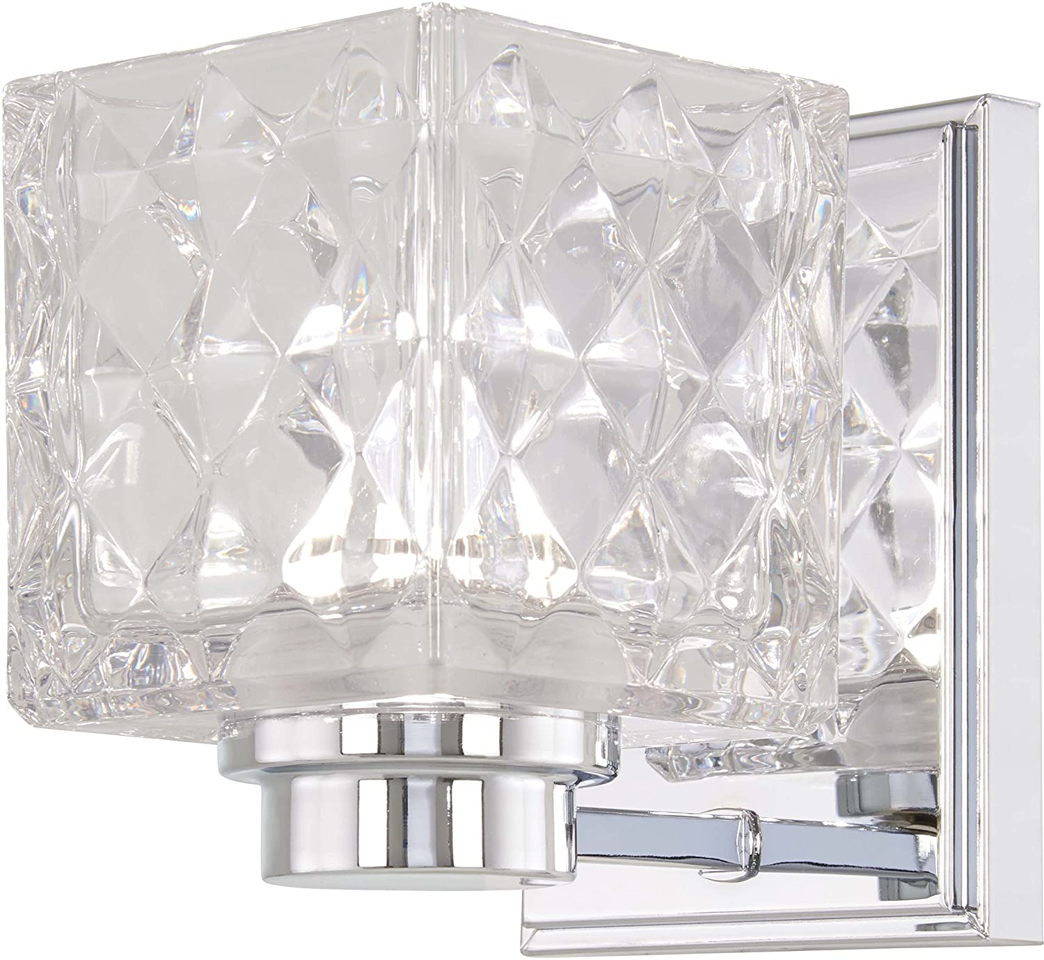 Minka Lavery Wall Light Fixtures 4791-77-L Glorietta Bath Vanity Lighting, 1-Light LED 8 Watts, Chrome
