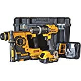 Dewalt DCK260M2T Perceuse visseuse à percussion + Perforateur burineur SDS plus 2 x 18 V 4 Ah