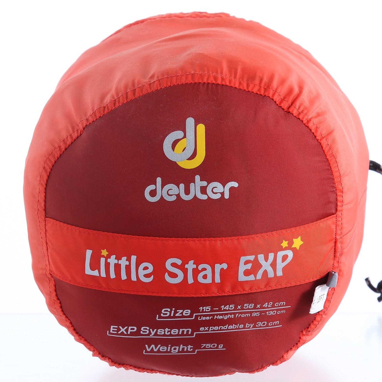 Deuter Little Star EXP Saco de Dormir, Unisex Adulto, Naranja (Papaya/Lava), Talla Única: Amazon.es: Deportes y aire libre