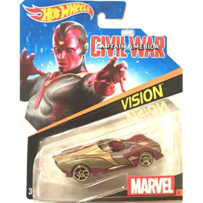 Hot Wheels, Marvel Character Car, Vision (Civil War) #31: Toys & Games