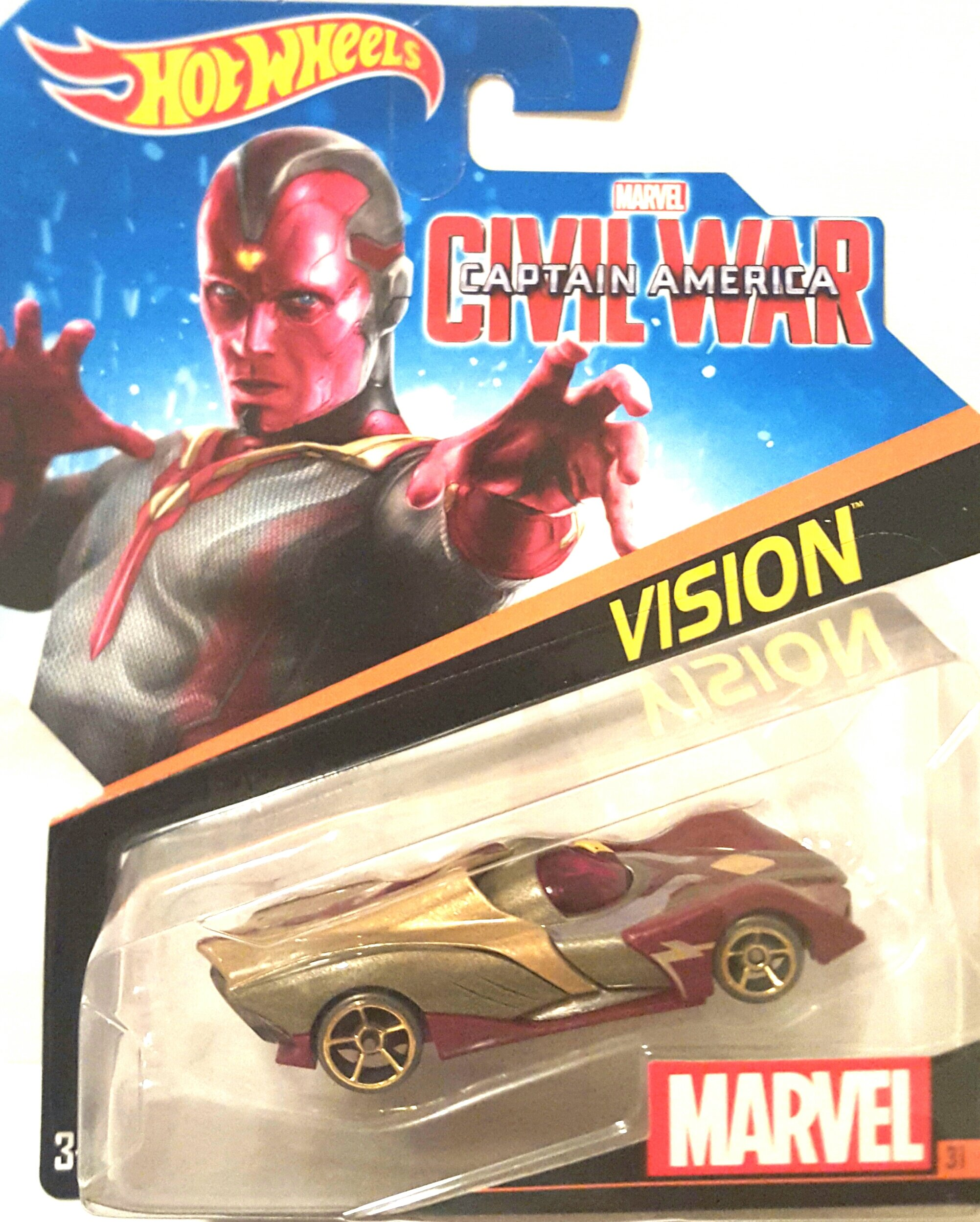 Hot Wheels, Marvel Character Car, Vision (Civil War) #31