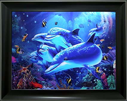 Amazon.com - Lee\'s Collection Dolphins 3D Holographic Animated ...