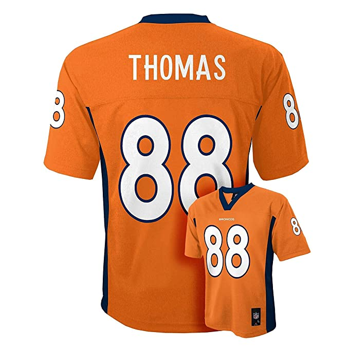 low priced 6666b 3524e Outerstuff Demaryius Thomas Denver Broncos #88 Orange Kids Mid Tier Home  Jersey