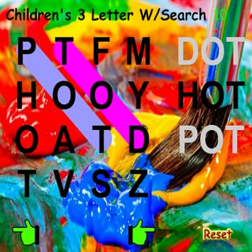 kids 3 letter word search find words of 3 letters only