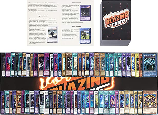 Yugioh Card lot Includes 100 yugioh Cards - 20 holos - Yugioh Deck Box - Yugioh playmat - Beginner's rulebook - Enough Cards for Two yugioh Decks!