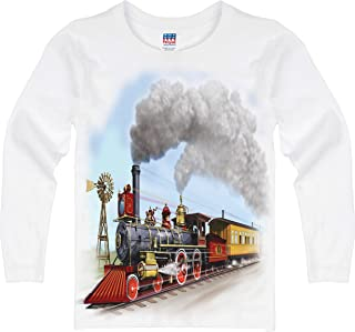 product image for Shirts That Go Little Boys' Long Sleeve Old West Steam Train T-Shirt