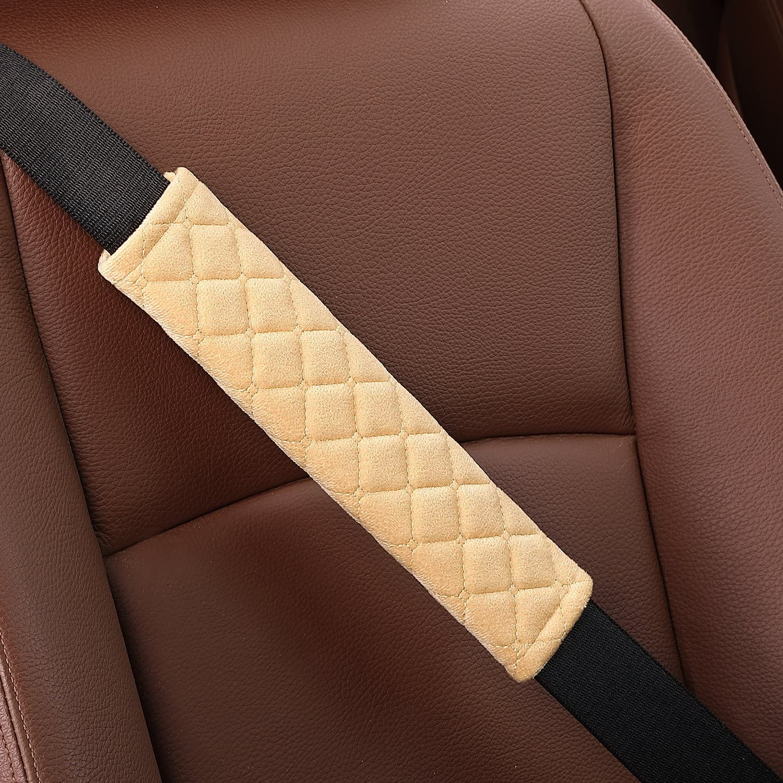 Car Seat Belt Pad,2-Pack Soft Car Strap Shoulde Seat Belt Comfort Harness Pads