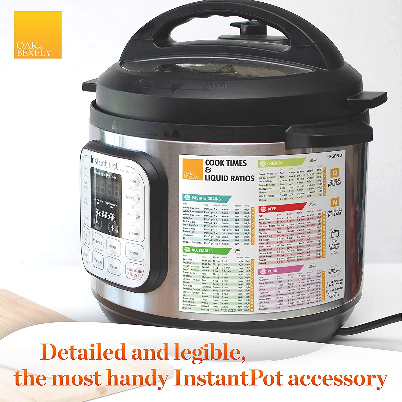 Pressure Cooker Accessories - Insta Pot Cheat Sheet Magnet Set - Instant Pot Times Cookbook