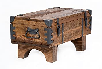 Own Design Coffee Table Old Travel Steamer Trunk Masive Pine