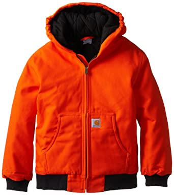 777502c7e Amazon.com: Carhartt Boys' Active Jacket Flannel Quilt Lined: Clothing
