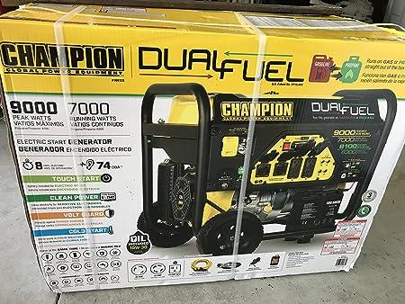 Amazon.com: Champion generador DOBLE alimentado a ...