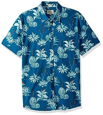 f6cd508f854b Amazon.com  Quiksilver Men s Agavy Short Sleeve Button Down Floral ...