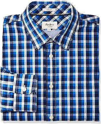 Pepe Jeans Camisa Neal Azul para Hombre: Amazon.es: Ropa y accesorios