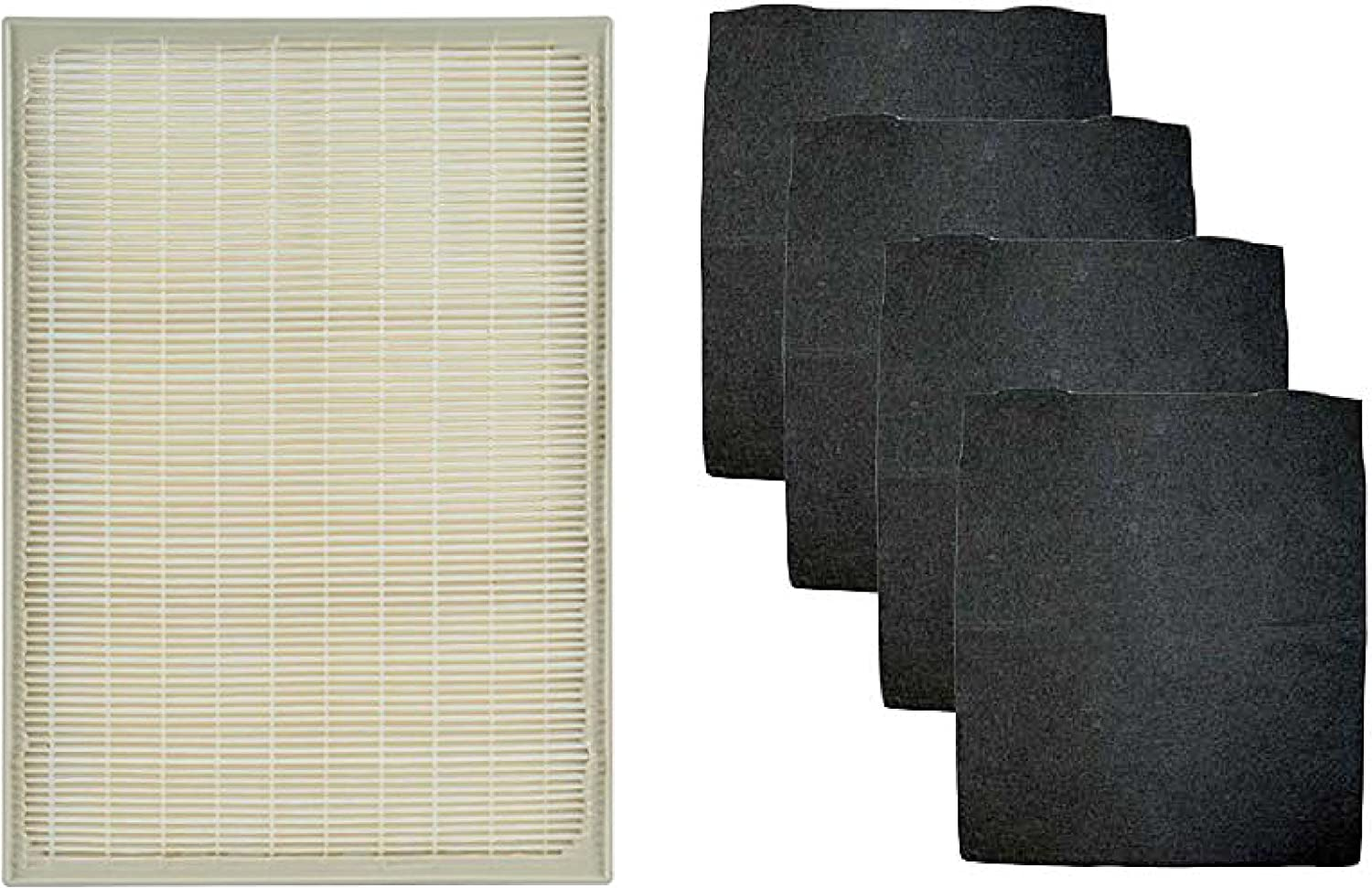 Nispira HEPA Filter with 4 Pre-Carbon Filters Compatible with Whirlpool Whispure Air Purifier Models AP25030K, APR25530L, APR25130L; Replaces Part # 1183051 1183051K, 1 Set