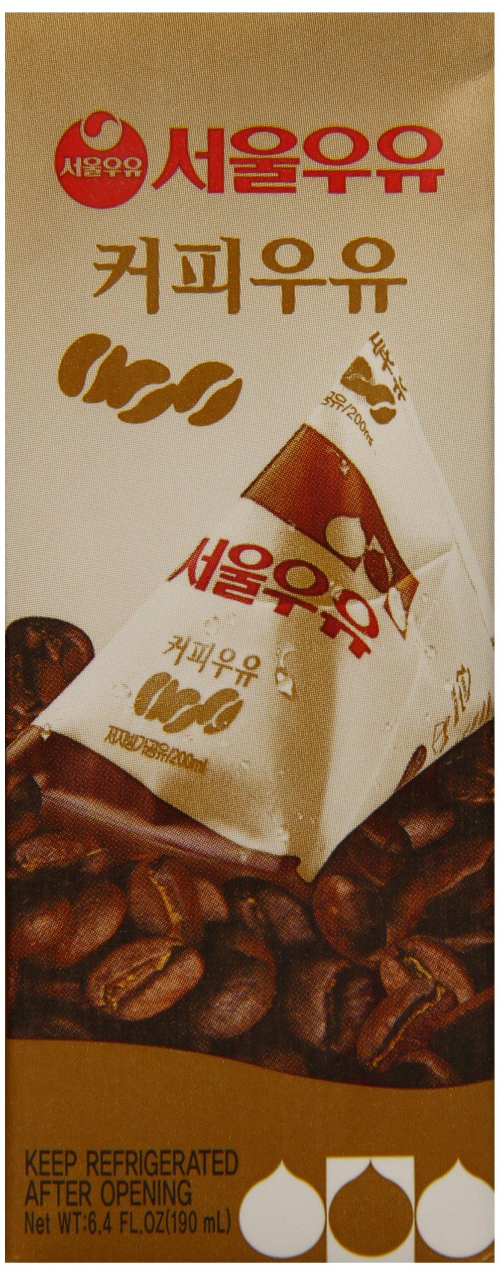Seoul Milk Flavored Milk, Coffee, 6 Count (Pack of 4) by Seoul Milk