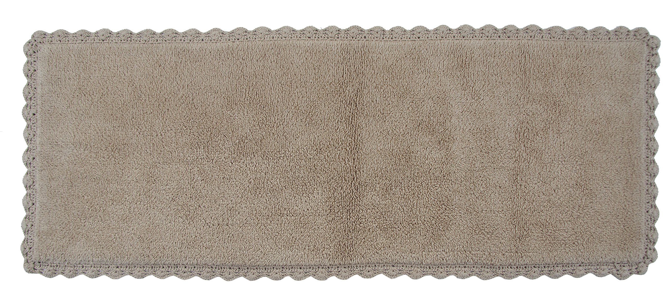 Chesapeake Merchandising Crochet Bath Runner, 22 by 60-Inch, Linen