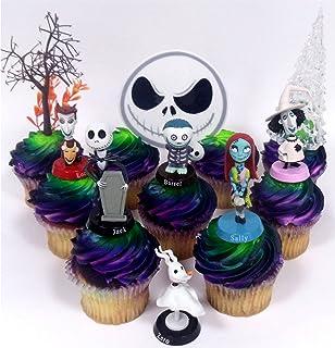 Amazoncom Nightmare Before Christmas 17 Piece Birthday Cake Topper