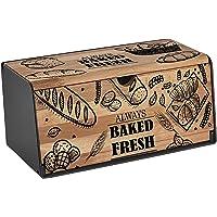 Sinbo Brotkasten Holz   Brotbox   Brotkiste   Brot Aufbewahrungsbox   Brotkorb   Brotbehälter   Brotkiste   Frischhaltebox   Hochwertig verarbeitetes Holz   Großer Stauraum   2 Öffnungsmöglichkeiten