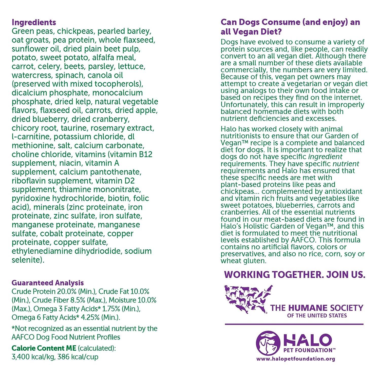 Amazon.com: Halo Vegan Garden Medley Stew for Dogs, 10 lb: Pet Supplies