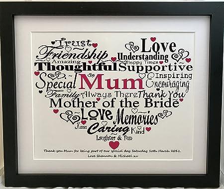 mother of the bride present gift word art print amazon co uk