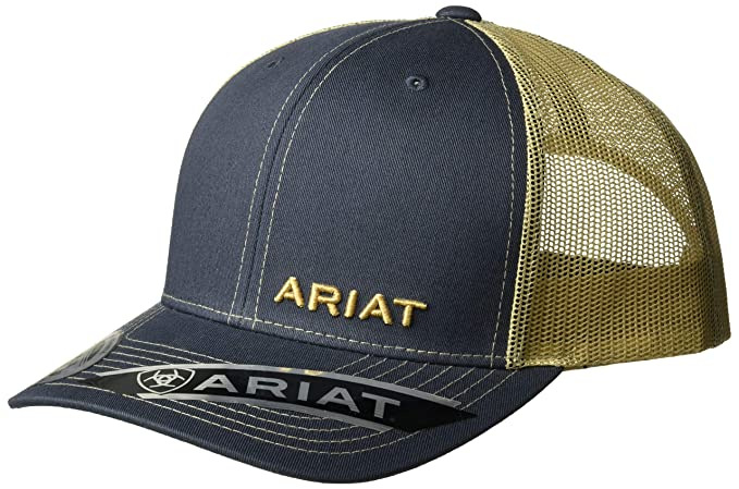 Amazon.com  ARIAT Men s Navy Corner Name Mesh Cap 08d32773537b