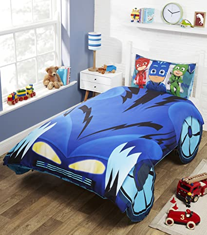 PJ Masks Catboy Cat-Car Shaped 2 Piece UK Single/US Twin Sheet Set