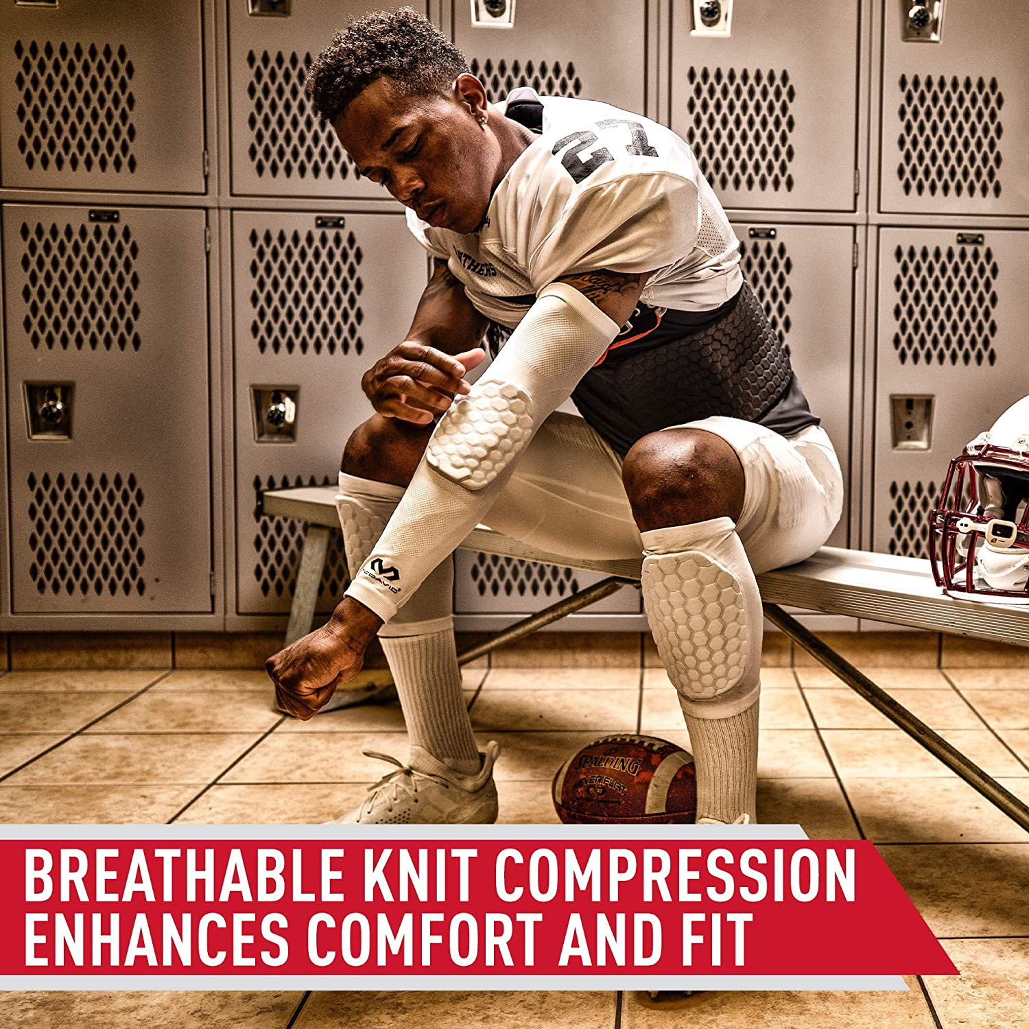 Knee Compression Sleeves: McDavid Hex Knee Pads Compression Leg Sleeve for Basketball, Volleyball, Weightlifting, and More - Pair of Sleeves: Sports & Outdoors