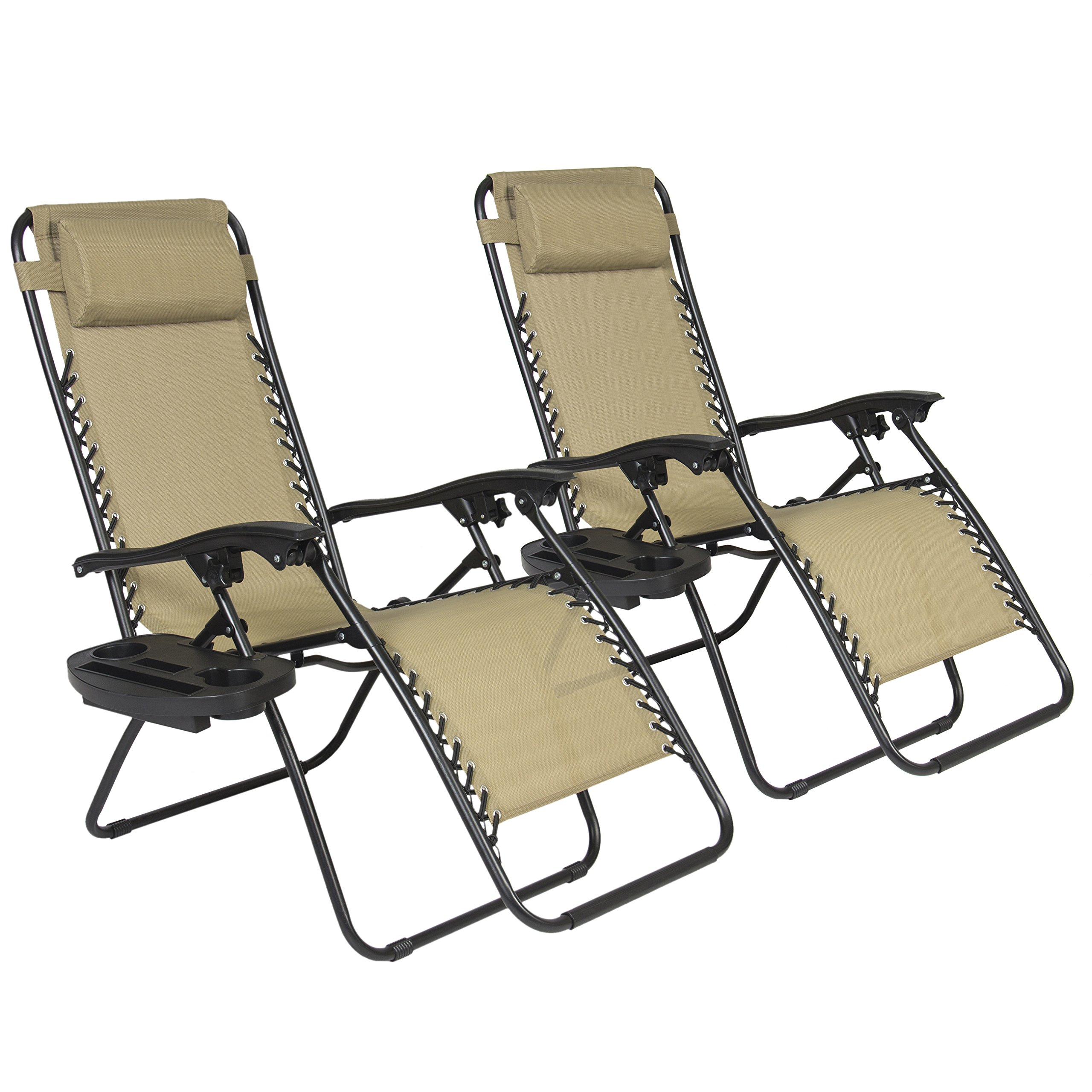Best Choiceproducts Zero Gravity Chairs Tan Lounge Patio Chairs Outdoor Yard .. 16