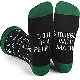Lavley Nerd Socks - Cool Socks for Men and Women - Funny Gift for Geeks (Books, Math, Science)