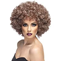 Smiffy's Women's Dirty Blonde Afro Wig, Blonde and Brown, One Size, 42037