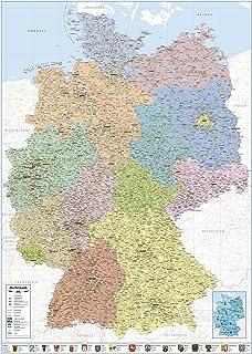 Amazon De Landkarten Giant Xxl Poster Deutschlandkarte