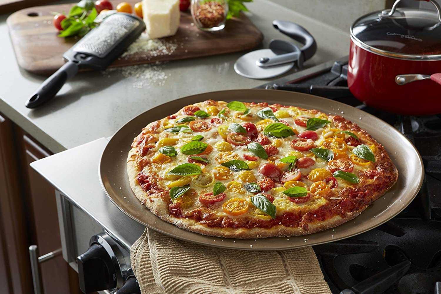 Calphalon 16-Inch Nonstick Pizza Pan Toffee