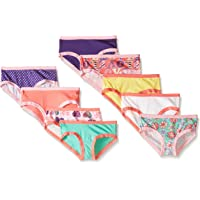 Fruit of the Loom Little Girls' Assorted Hipster Panties Set (Pack of 9)