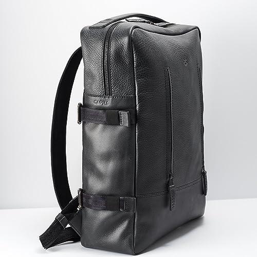 Amazon Com Capra Leather Laptop Backpack For Men Black Travel