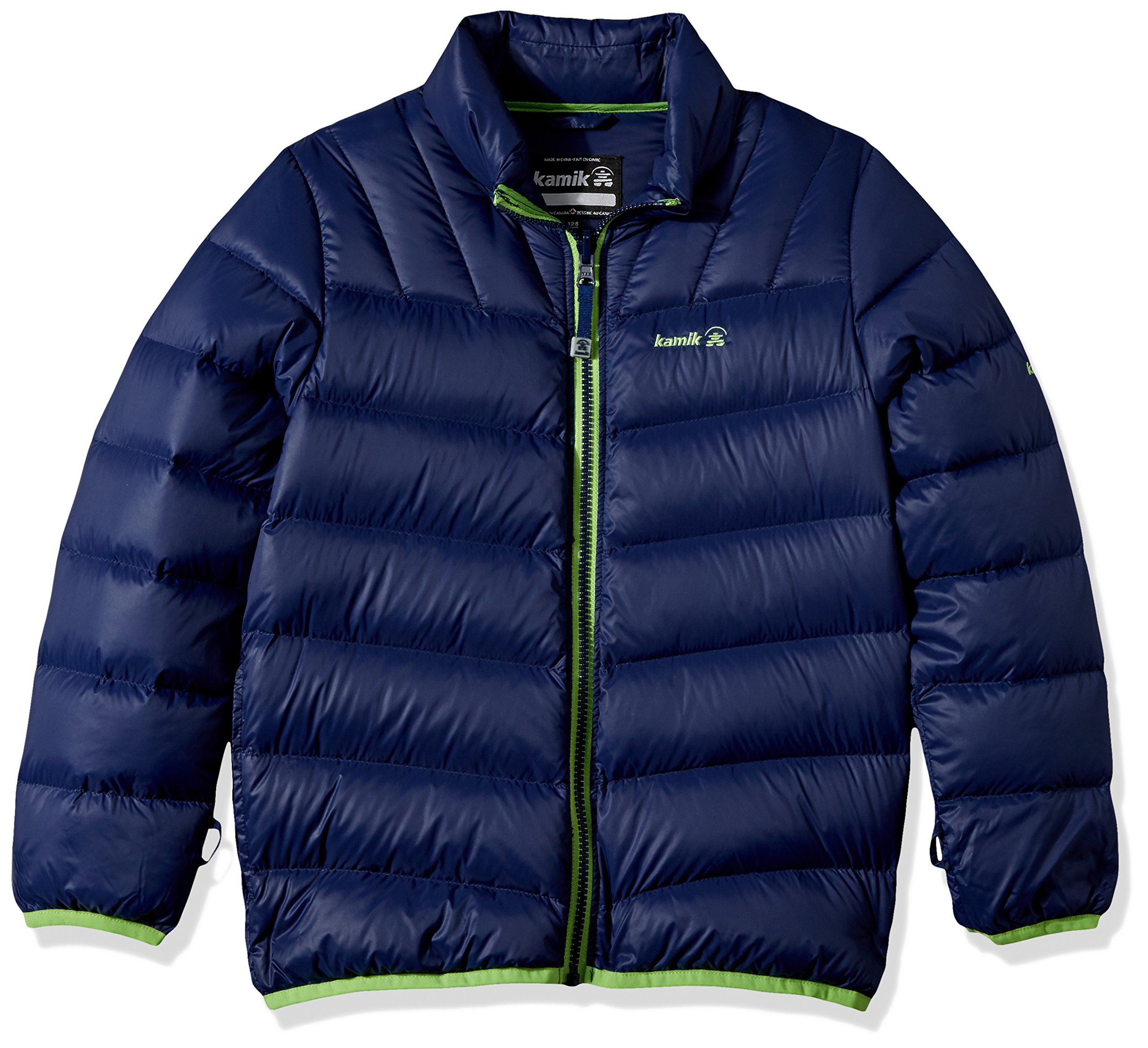 Kamik Winter Apparel Boy's Chase 3In1 Down, Gecko/Navy, 3 by Kamik Winter Apparel (Image #4)
