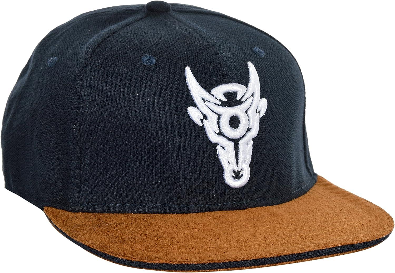 BB-8703-HC BlackBuck Blue /& Brown Printed Adjustable Hip Hop Cap For Men