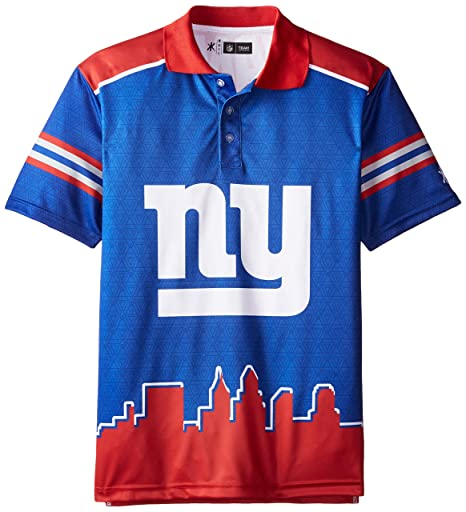 the latest 674a6 f339b New York Giants Polyester Short Sleeve Thematic Polo Shirt Double Extra  Large