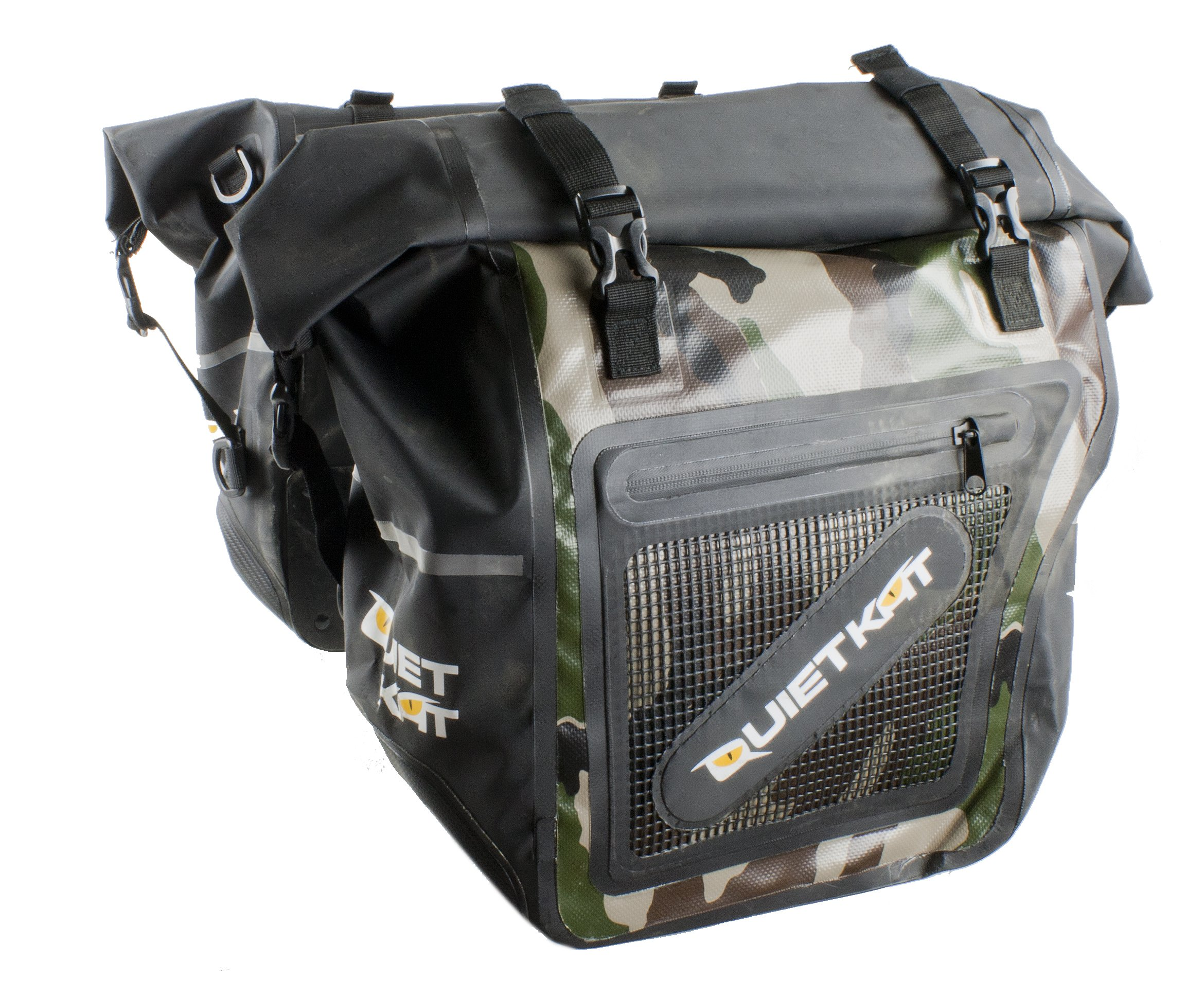 QuietKat Pannier Dry Saddle Bags for 750W & 1000W Fatkat Ebikes- Camo